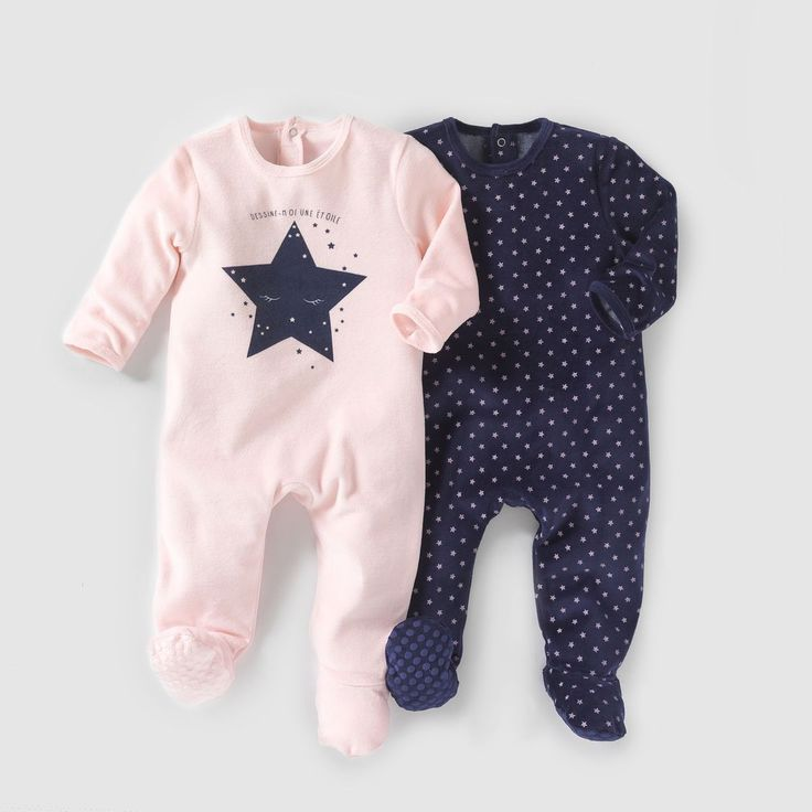 Ensemble De 2 Pyjamas Velours 0 Mois – 3 Ans – Taille: 12 mois, 18 mois, 9 mois, 6 mois …   – Products