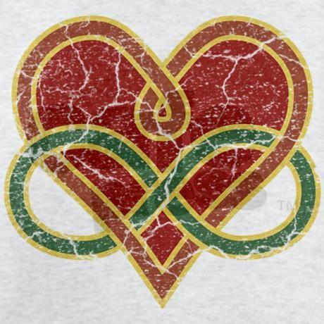 grungy_polyamory_heart_light_tshirt.jpg 460×460 pixels