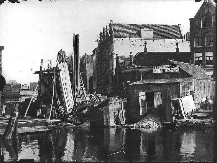 Amsterdam, Prinseneiland, bij de Galgenstraat. foto: Jacob Olie 1893