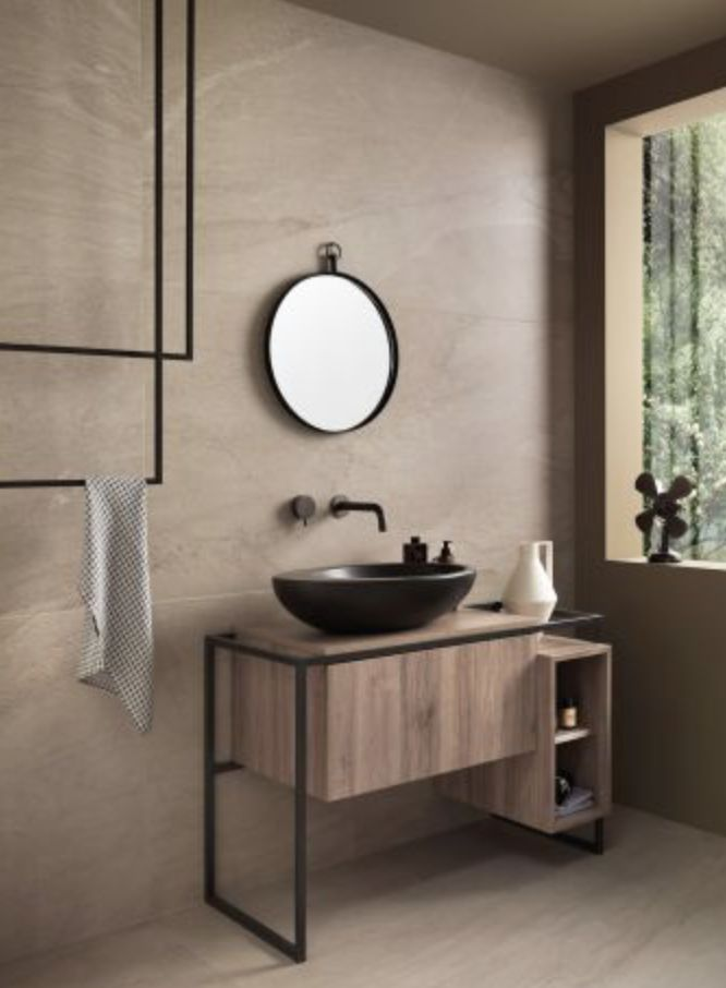Upstone, one of our new tiles is perfect for this bathroom ...