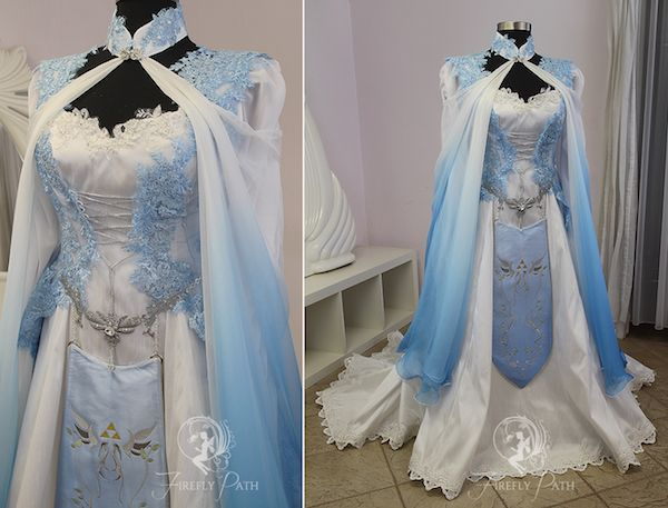 Princess Zelda and Link might be fictional characters, but these gorgeous Legend of Zelda-inspired wedding dresses are anything but fictional, and they can be yours thanks to the folks over at Fire…