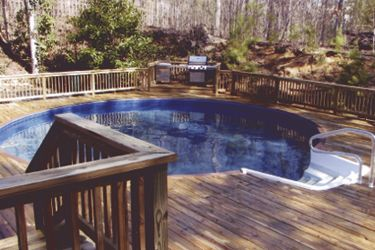 124 best above ground pool decks images on pinterest - Above ground pool steps wood ...