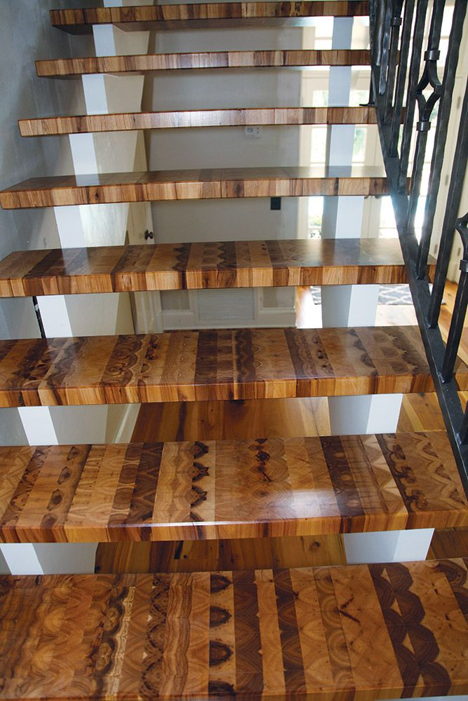 End-Grain Craftsman Takes His Blocks to The Stairs - Hardwood Floors Magazine