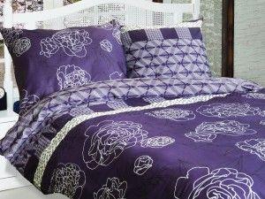 Komplet pościeli satynowej został wykonany ze 100% bawełny. Tkanina stosowana do jego produkcji