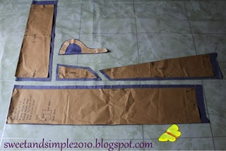 SWEET AND SIMPLE: pola baju kurung riau