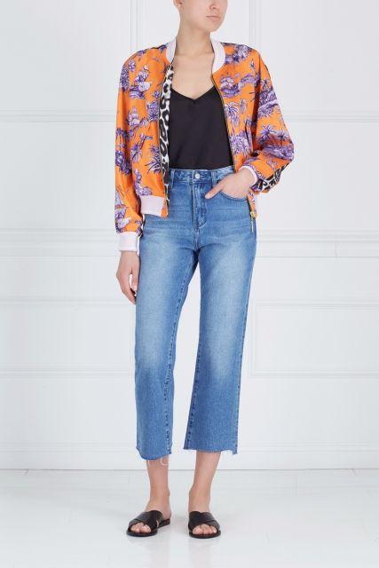 Бомбер с принтом Just Cavalli - Эффектный бомбер из коллекции Just Cavalli в интернет-магазине модной дизайнерской и брендовой одежды