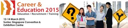 Career & Education 2015 on March 12-14, 2015 at 10:00 am to 8:00 pm at Suntec Singapore Convention & Exhibition Centre, Halls 403-405, 3 Temasek Boulevard Suntec City Singapore, Singapore, 038983, Singapore, For people of all walks of life, this FREE career & education event brings together job seekers, employers, training providers and many more. Facebook: http://atnd.it/18167-1, Twitter: http://atnd.it/18167-2, Category: Exhibitions, Price: Free