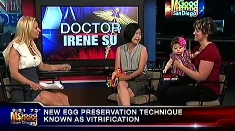 Dr. Irene Su and Patient Shannon Taylor Interviewed on KUSI About Baby Candice, The First Baby Born in San Diego Using Flash Frozen Egg Vitrification.