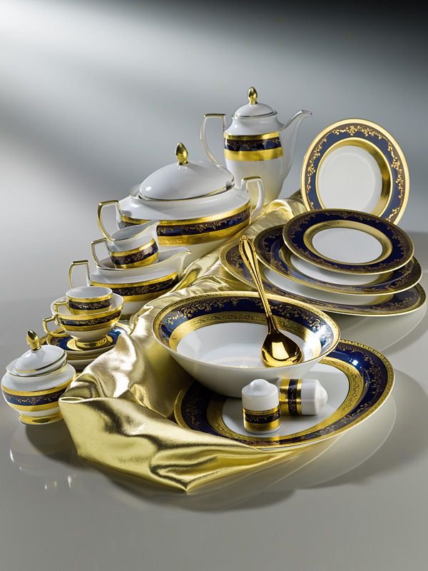 ZEPTER Masterpiece Collection Porcelain - Royal Gold Cobalt