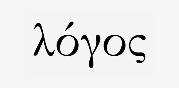 """Image of """"Logo"""" spelled in Greek, from the article """"The psychology of logo design."""""""