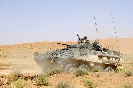 Royal Canadian Dragoons LAV III @ FOB in Afghanistan