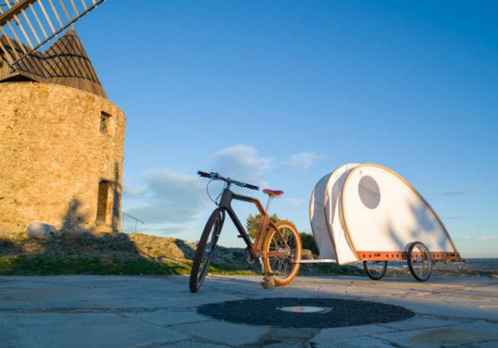 Foldavan: tienda, bicicleta y caravana