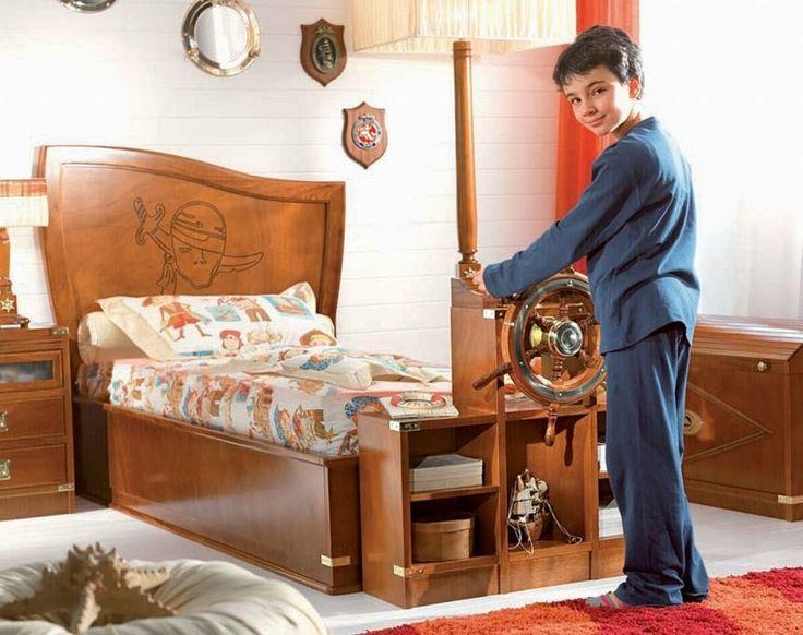 dormitorio para chico de estilo marino