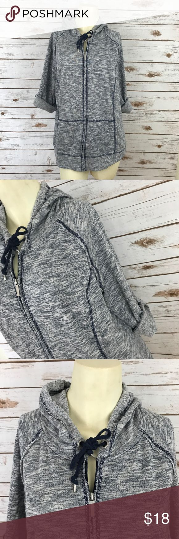 Lane Bryant Active Wear zip up hoodie plus 14/16 Plus size hoodie full zip made by Lane Bryant in excellent condition. Sleeves have the option for full length or 3/4. Lane Bryant Tops Sweatshirts & Hoodies
