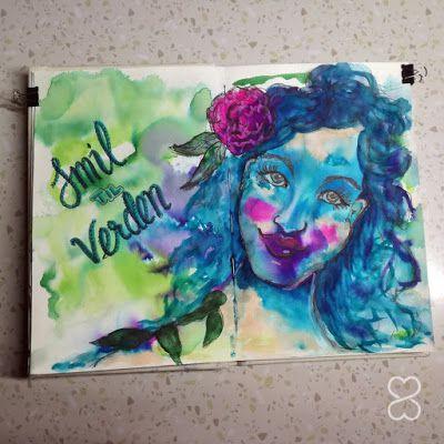 mcreative: Art Journal side med bruk av Jane Davenport produk...