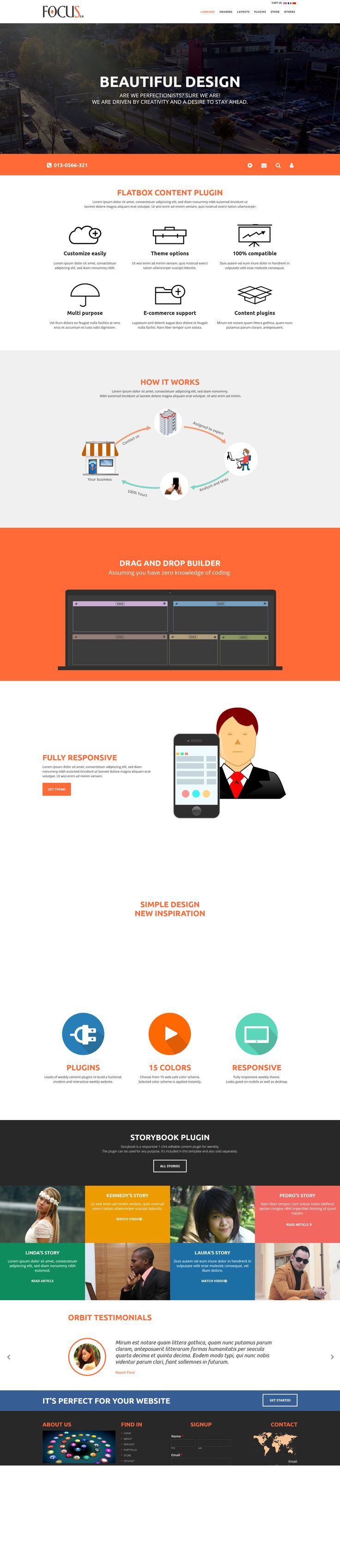 Colors for professional website - Focus Professional Weebly Website Theme Modern Interactive Template For Websites
