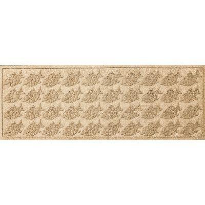 """Bungalow Flooring Aqua Shield Tropical Fish Doormat Color: Camel, Rug Size: 22"""" x 60"""""""