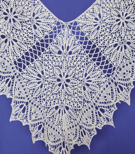 Gorgeous lacy shawl.