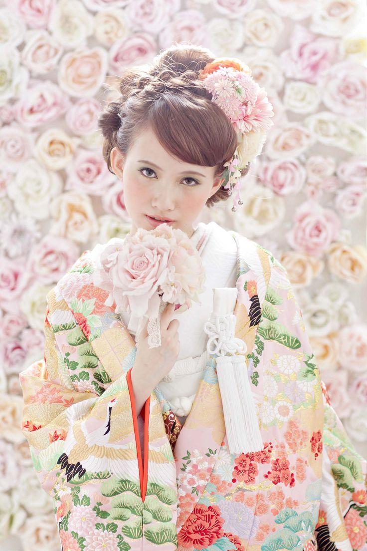 cute kimono style wedding