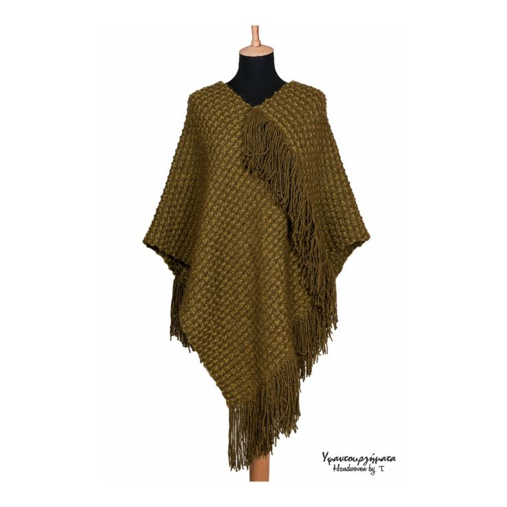 HANDWOVEN WOOL PONCHO|handmade shawl|unisex accessory|fall fashion|fall winter|trends|gift idea|unique design|designer fabric|fashion fabric by HandwovenByT on Etsy