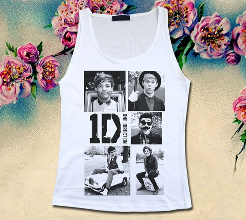 1D ONE DIRECTION Funny Act Womens Tank Top Sleeveless Cotton T Shirt UK Boy Band