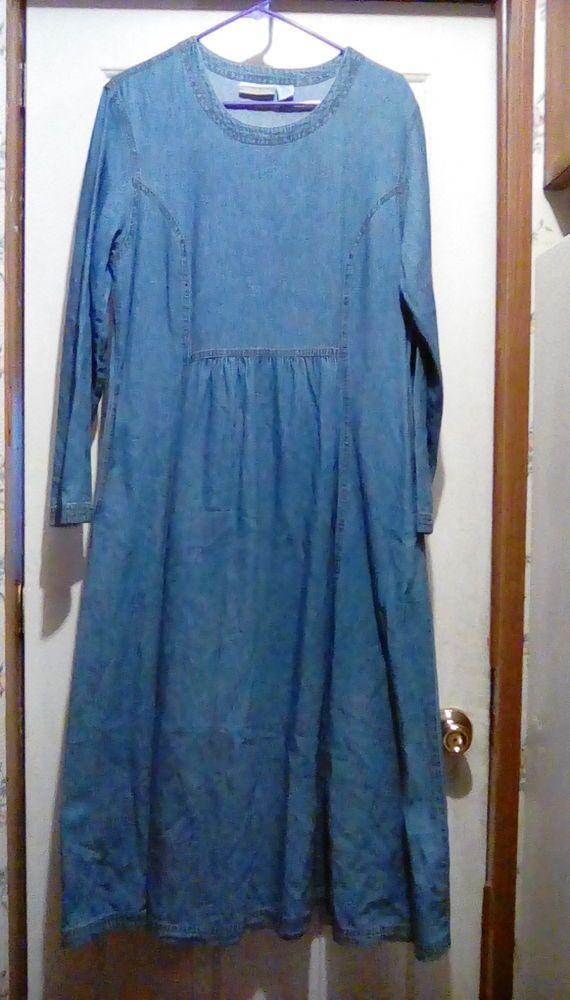 Coldwater Creek Denim Dress