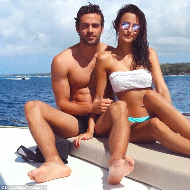 Lucy Watson shares throwback shot of festive Barbados holiday with beau James Dunmore | Daily Mail Online