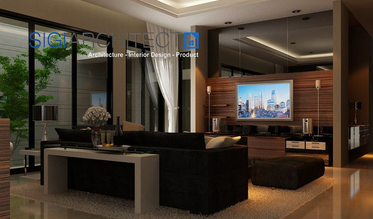 interior rumah tropis_living room