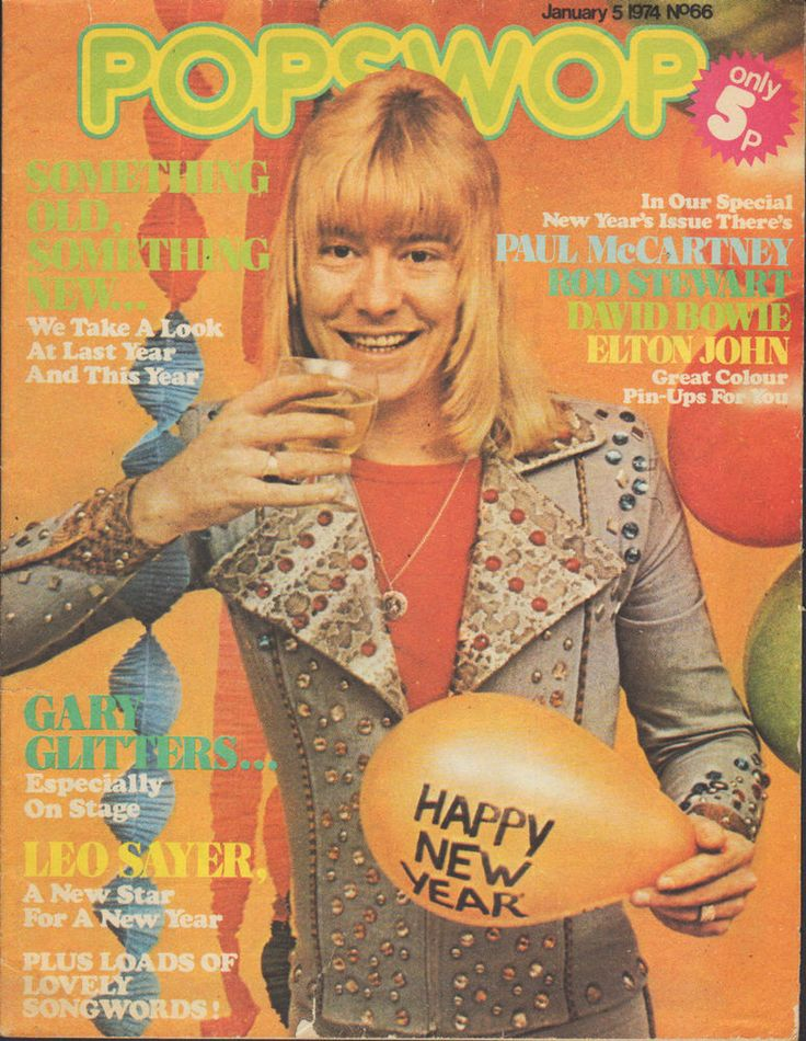 Brian Connolly of The Sweet on Magazine Cover 1973    David Bowie    Elton John