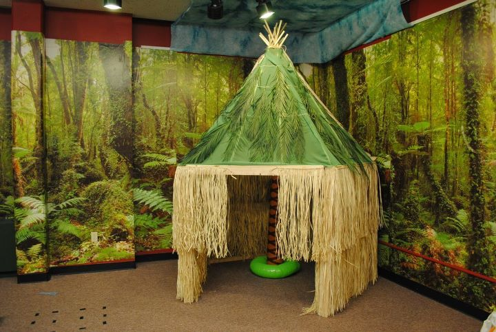 jungle hut...or something like this. Ha!