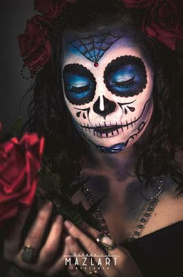1000 id es sur le th me maquillage sugar skull sur pinterest maquillage de t te de mort - Maquillage mexicain facile ...