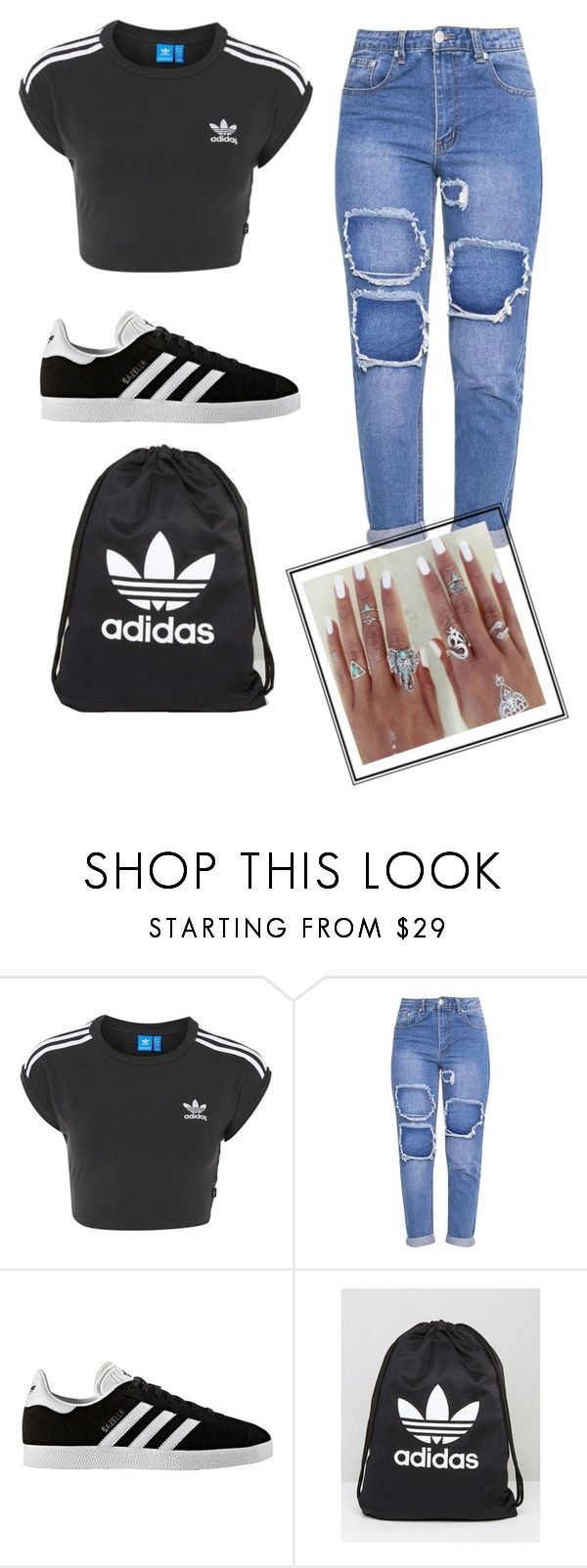 """Untitled #396"" by zoe-maddss on Polyvore featuring adidas"