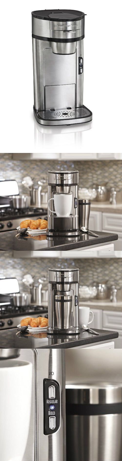 Single Serve Brewers 156775: Personal Single Cup Coffee Maker Machine Brewer Stainless Hamilton Beach 14 Ounc -> BUY IT NOW ONLY: $53.6 on eBay!