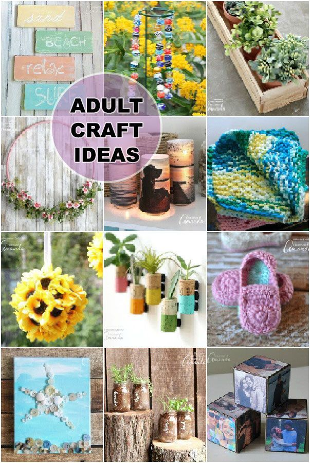 Adult Craft Ideas Lots Of Crafts For Adults With Images Diy