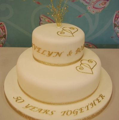 wedding anniversary cake decorations 2 cake ideas 50th anniversary golden 8386