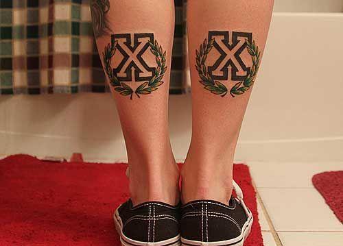 Lindsey DeLuca's straight edge tattoos