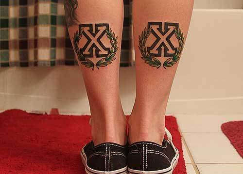 Lindsey DeLuca's straight edge tattoos