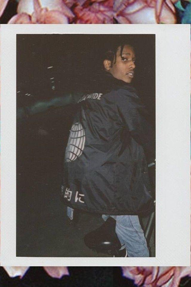 ASAP Rocky wearing  ASAP Mob Team ASAP Worldwide Jacket