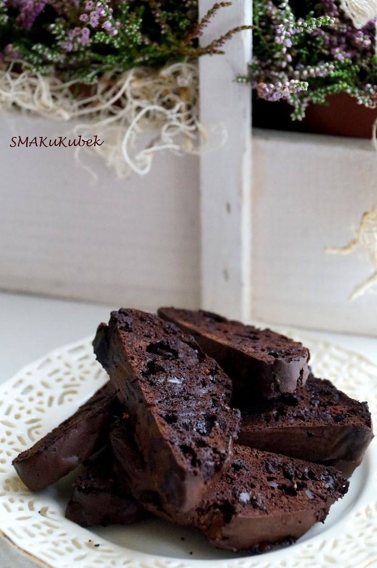 SMAKuKubek: Biscotti czekoladowe