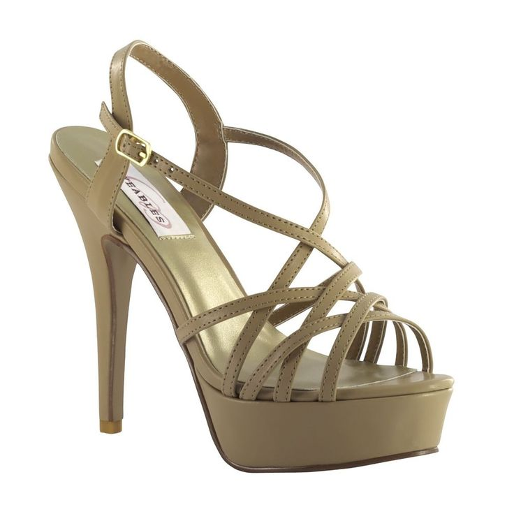 Cali Nude Taupe Silver Metallic Prom Pageant High Heel Platform