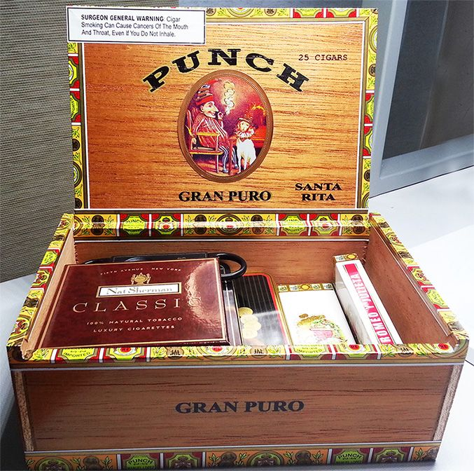 These PUNCH cigar boxes are beautiful.