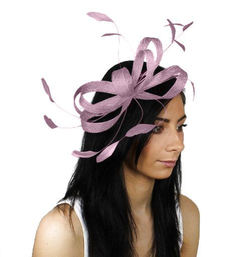 Sinamay Butterfly Lilac Fascinator Hat for by Hatsbycressida