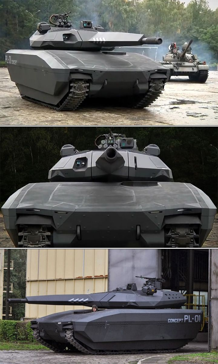 The Polish PL-01 concept tank that is practically invisible to infrared and radar