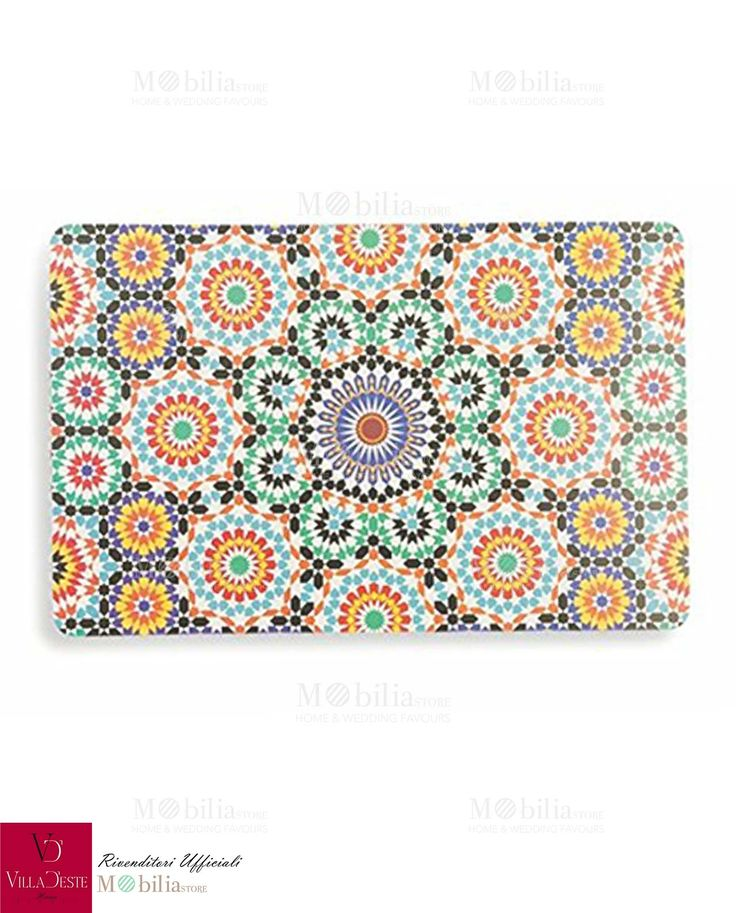 Tovagliette Villa d'Este, colori brillanti e decori eccentrici per una tavola unica e ricca di sapori nuovi. Promozioni su Mobilia Store.