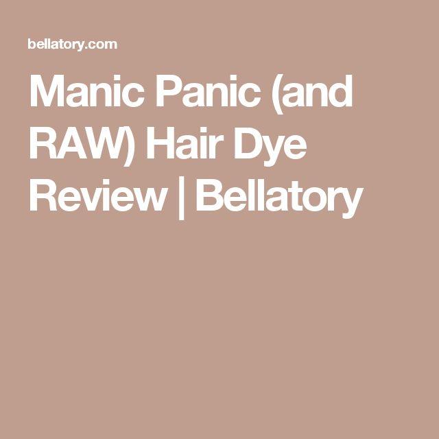 Manic Panic (and RAW) Hair Dye Review   Bellatory