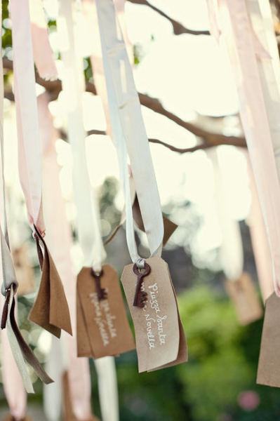 Style Me Pretty | Gallery | Picture | #293874 cute! I could hang these on the wishing tree and they have to find their place card, take it, and then in the empty place, hang a wish for us!