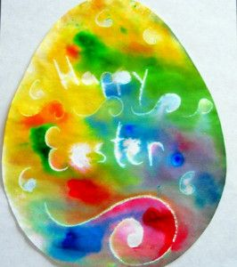 A colorful Easter craft for kids that will brighten up an entire room. Make Easter crafts for kids to get into the joy of the holiday.