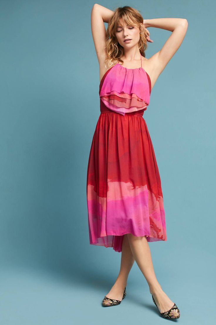 Slide View: 1: Tracy Reese Cascade Halter Dress