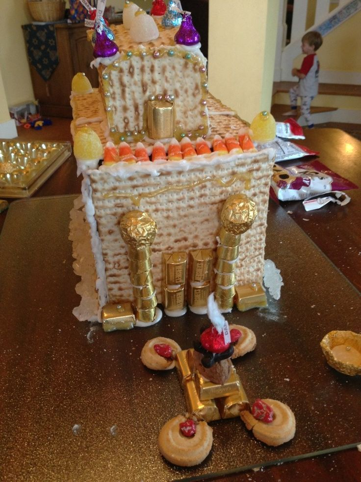 """Craft project - """"Gingerbread Temple"""" for Hanukkah! At Fruitful Wife Blog."""