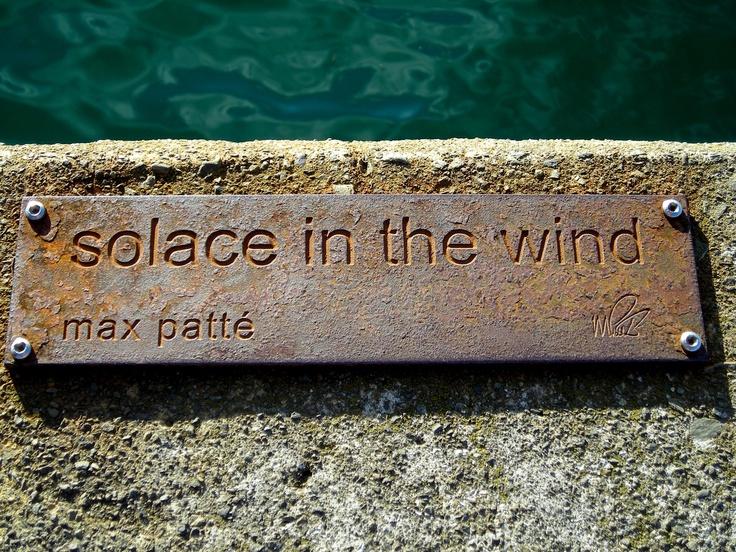 Wellington, New Zealand  Plaque on wharf walk